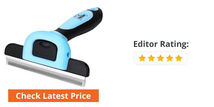 dog grooming brush with blade