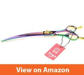 8 Inch 440C Rainbow Color Curved Scissor