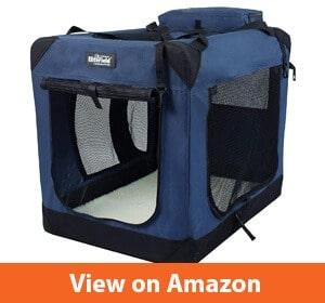 EliteField 3-Door Folding Soft Dog Crate
