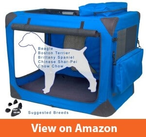 Pet Gear 3 Door Portable Soft Foldable Crate, No Tools Required