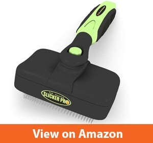 Pro quality self-cleaning slicker brush
