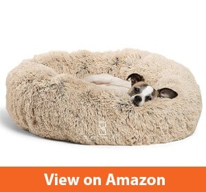 Best Friends by Sheri Luxury Shag Fuax Fur Donut Cuddler (Multiple Sizes) –Round Donut Cat and Dog Cushion Bed