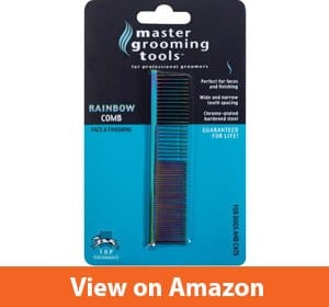 Master Grooming Tools Steel Pet Rainbow Greyhound Comb