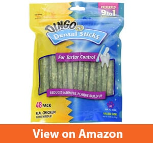Dingo Dental Sticks for Tartar Control, 48-Count (Pack of 2)