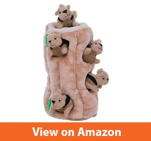 Outward Hound Hide-A-Squirrel Puzzle Plush Squeaking Toy Dogs