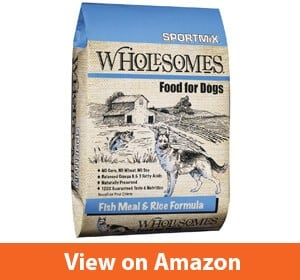 SPORTMiX Wholesome Fish Meal and Rice Formula – Best dog treats for golden retrievers